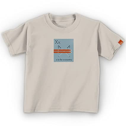 cc201d7a Mountain Mama Kid's Outdoor X is for X-Country Organic Tee, Natural Cotton,