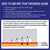 TCP Global Wet Film Thickness Gauge Comb, 1-80 Mil
