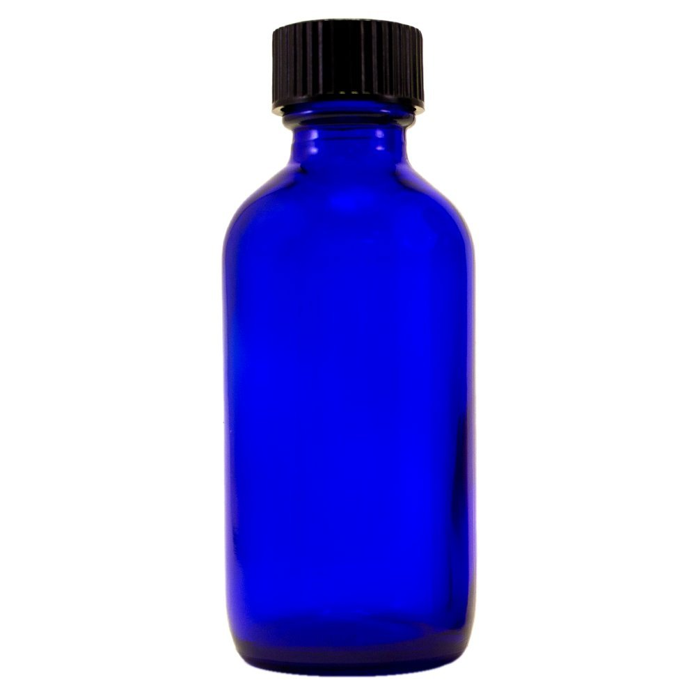 2 fl oz Cobalt Blue Glass Bottle with Phenolic Cone Cap 24 Pack