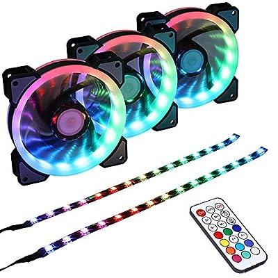 3pcs+1pcs Rainbow Fans