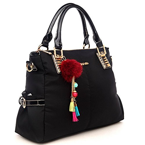 Kaisasi Zongshen Handbag Simple Leather Womens Handbags Diagonal Package(black)