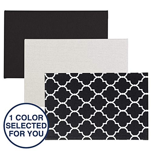 "Quartet Bulletin Board, Fabric, 11"" x 17"", Home Organization, 1 Board, Color May Vary (50728)"