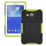 Galaxy Tab 3 Lite Case,T110 Case, Ngift [Green] Heavy Duty Dual Layer Hybrid Shock Proof Fully Protective [Kickstand] Case for Samsung Galaxy Tab 3 Lite 7.0 SM-T110 / T111