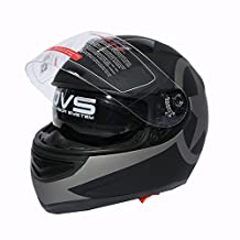 Tengchang DOT Adult Matte Black Star Full Face Motorcycle Helmet+Sun Shield XXL
