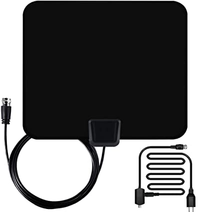 Vinpie Digital TV Antenna 50 Mile Range Amplifier Digital HDTV Antenna Indoor with Detachable Amplifier Power