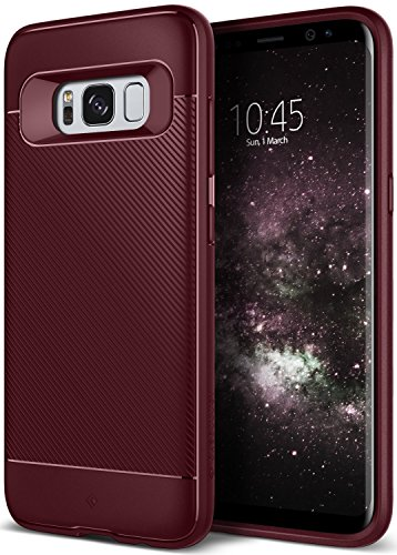 Galaxy S8 Plus Case, Caseology [Vault II Series] Slim Protective Shock Absorbing TPU Textured Grip Corner Cushion Design for Samsung Galaxy S8 Plus (2017) - Burgundy