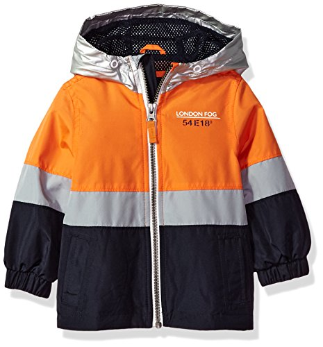 Warmer Chest (London Fog Baby Boys Chest Stripe Poly Lined Jacket, Bold Orange, 24M)
