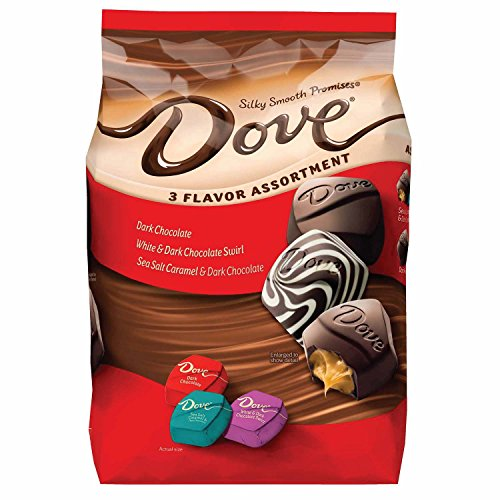 DOVE PROMISES Variety Mix 3-Flavor Dark Chocolate Candy Assortment 34-Ounce Bag 120 Pieces DOVE PROMISES Variety Mix 3-Flavor Dark Chocolate Candy Assortment 34-Ounce Bag 120 Pieces - Bag Dark Chocolate