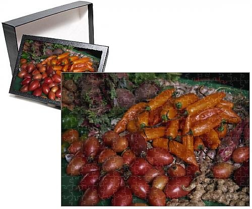 Photo Jigsaw Puzzle of Vegetables for sale, Pisac Market, Cuzco area, Peru, South America