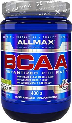 ALLMAX Nutrition, BCAA Powder Micronized 2:1:1, Unflavored, 400g
