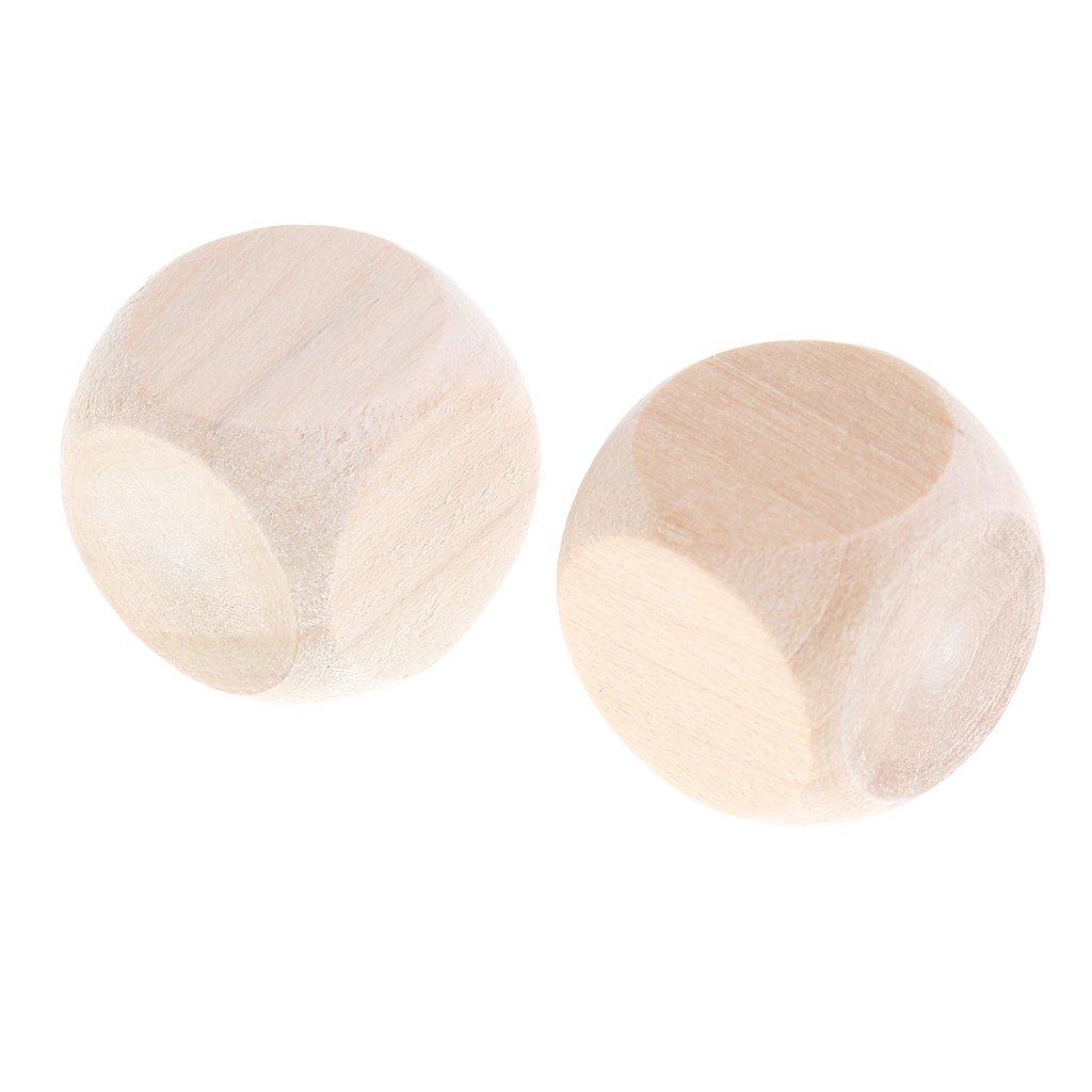 Sharplace Dados de 6 Lados en Blanco Madera 1//1.6//2//3//4//5//6 cm 2 cm 50 Piezas