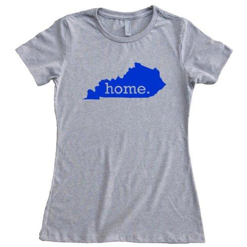 Wildcats New Kentucky Blue (Homeland Tees Women's Kentucky Home State T-Shirt Medium Gray/Royal Blue)