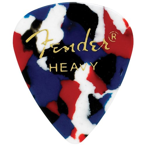 Fender Celluloid 351 Classic Guitar Pick Pack of 12 Pack Heavy / Confetti