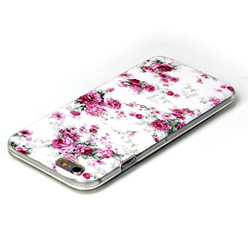 PowerQ Bunte Muster Serie Malerei Zeichnung Colorful Pattern TPU Fall Case Hülle < Large white Peony | für IPhone 5S 5 5G SE IPhone5S IPhoneSE >            weiche TPU Abdeckung Handy-Fall Handy-Abdeckung Haut sc