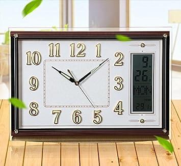 Amazon.de: Kalender Uhr Wand Uhr Salon Tisch Uhr leuchtende Wand ...