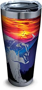 Tervis Mountains Bears Scene Stainless Steel Insulated Tumbler with Clear and Black Hammer Lid, 30oz, Silver
