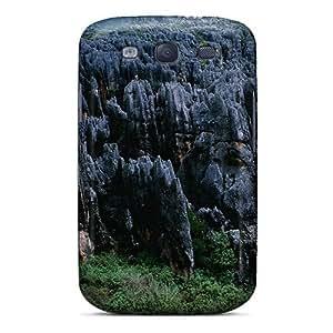 Cynthaskey ImkERac1897LtTOR Case Cover Galaxy S3 Protective Case Fantastic Black Rocky Ridges