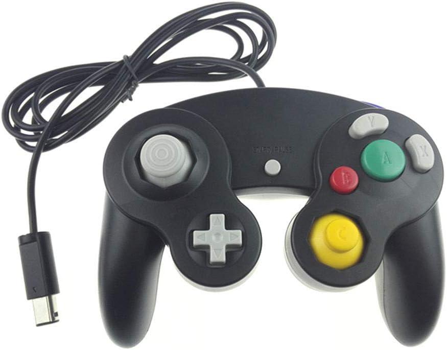 Controlador de un Solo Jugador, Juego de NGC Controlador GC Manija de un Solo Punto Vibración Manija de la Interfaz,White