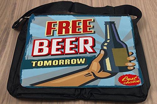 Borsa Tracolla Birra Bar Pub Domani gratis Stampato
