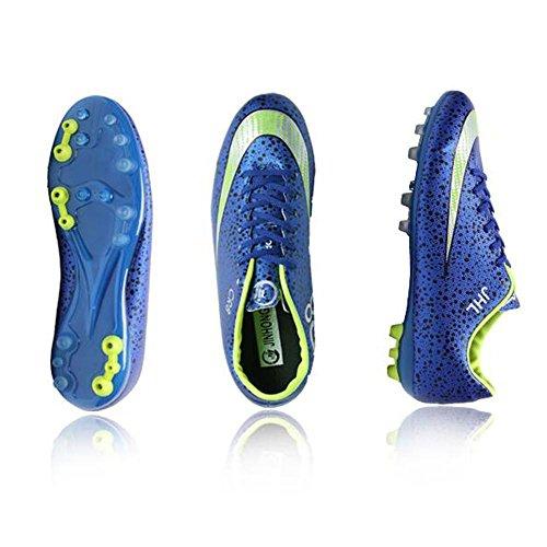 Mr. LQ - Zapatillas de combate de fútbol para adultos y zapatos de entrenamiento Deep Blue