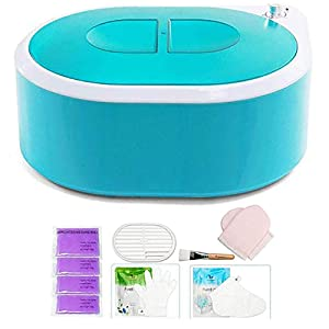 YOURSMART Paraffin Wax Machine For Hand and Feet, Spa Wax Warmer Quick-Heating Paraffin Bath with Refill Thermal Mitts Gloves Silicone Brush for Keep Warmer Function & Make Skin Fair and Shiny
