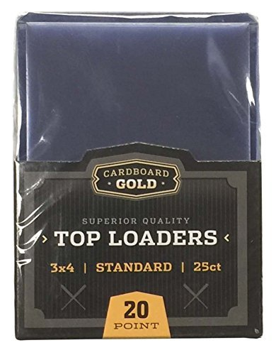 """1x 25ct CBG CARDBOARD GOLD 3"""" x 4"""" PRO Toploaders KEEPS CARDS ULTRA PROTECTED"""