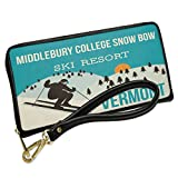 Wallet Clutch Middlebury College Snow Bow Ski Resort - Vermont Ski Resort with Removable Wristlet Strap Neonblond