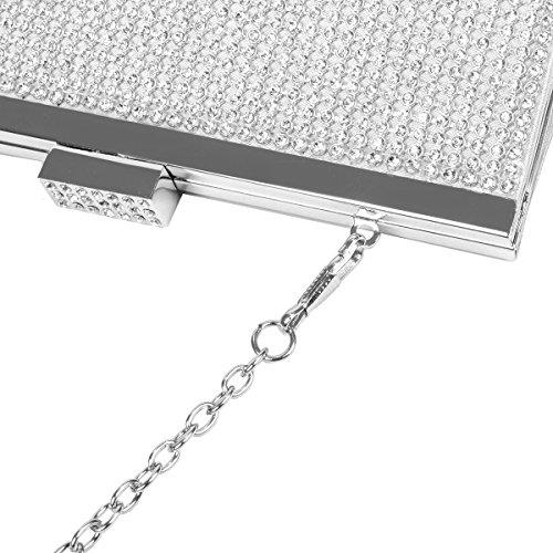 VESIA  3224732-Ve, Damen Clutch Silber silber