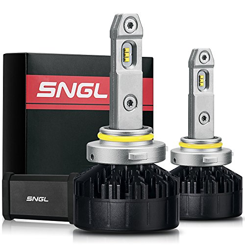 SNGL Super FocusBeam LED Headlight Bulbs Conversion Kit - Adjustable Bulbs - 9005 (HB3) LED High Beam Reflector-Specific Version - 5500K Daylight White - 2 Yr Warranty