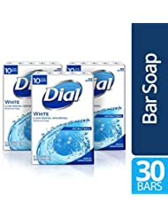 Dial Antibacterial Bar Soap, White, 30 Count