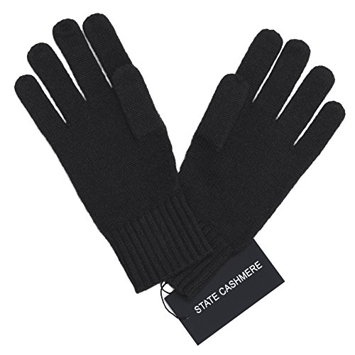 State Cashmere 100% Pure Cashmere Gloves, Cable Knit Design - Ultimate Soft and Warm, - 100% Cashmere Cable