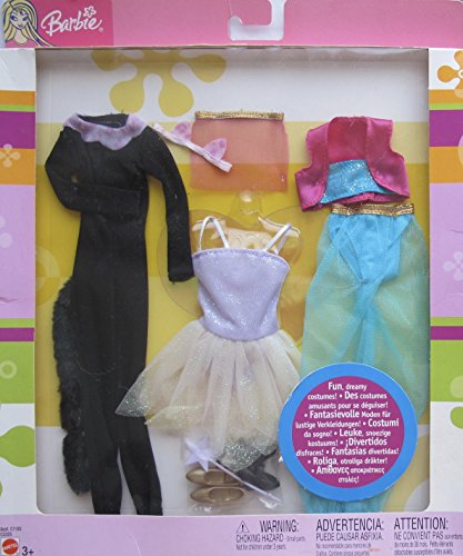 BARIE Fashions FUN DREAMY COSTUMES 3 PACK Outfits w PANTHER Cat, FAIRY and GENIE Clothes Costumes -