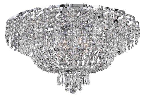 Belenus 18 Light (Elegant Lighting ECA2F26C/RC Belenus 13-Inch High 18-Light Flush Mount, Chrome Finish with Crystal (Clear) Royal Cut RC Crystal)