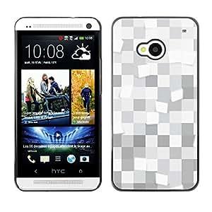 Cajas monocromo - Metal de aluminio y de plástico duro Caja del teléfono - Negro - HTC One M7