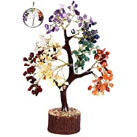 KACHVI Seven Chakra Crystal Tree Crystals And Gemstones Healing Home Office Decoration Reiki Natural Crystals Gifts For…