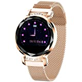 Smart Watch,Bluetooth Fitness Tracker Color Touch Screen with All-Day Heart Rate and Activity Tracking,Sleep Monitoring with Waterproof Calorie Counter Pedometer for Women(Gold)