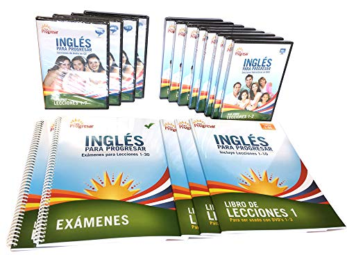 Ingles Para Progresar English for Spanish Speakers, Intermediate Edition Beginner Through Intermediate Course, Including 5 coursebooks, 4 Audio CDs, 8 DVDs