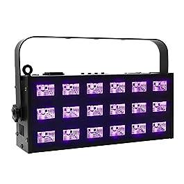 Black Light, OPPSK 54W 6×3 LED UV Black Light for Bedroom, 7CH DMX Control Auto Play Strobe Black Lights for 25x25ft…