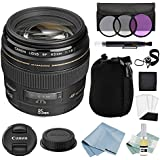 Canon EF 85mm f/1.8 USM Lens + Advanced Accessory Kit - Canon Lens Bundle Includes EVERYTHING You Need to Get Started
