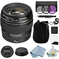 Canon EF 85mm f/1.8 USM Lens + Canon EF 85mm Lens Advanced Accessory Kit - Canon Lens Bundle Includes EVERYTHING You Need to Get Started