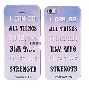ZL The English Alphabet Design PU Full Body Case with Card Slot for iPhone 5/5S
