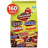 SNICKERS, TWIX, SKITTLES, STARBURST & Milk Chocolate M&M'S Halloween Candy Variety Mix 72.83-Ounce 160-Piece Bag