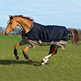 Horseware Mio Lite Turnout Sheet 81 Navy/Tan