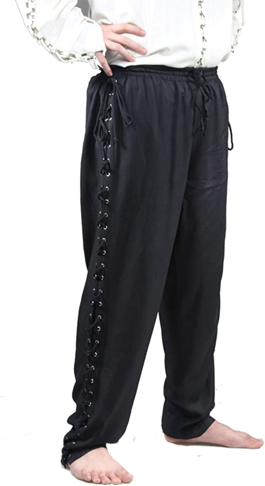 Renaissance Pirate Medieval Costume Pants