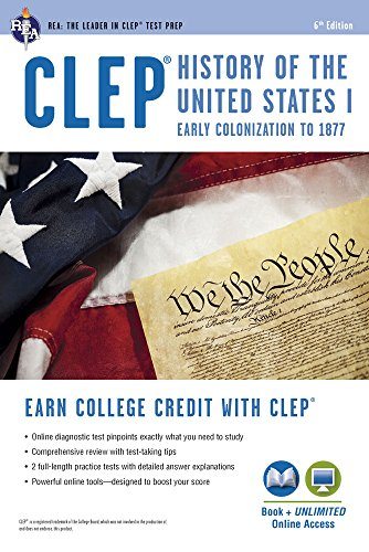 CLEP® History of the U.S. I Book + Online (CLEP Test Preparation) (The Half King French And Indian War)