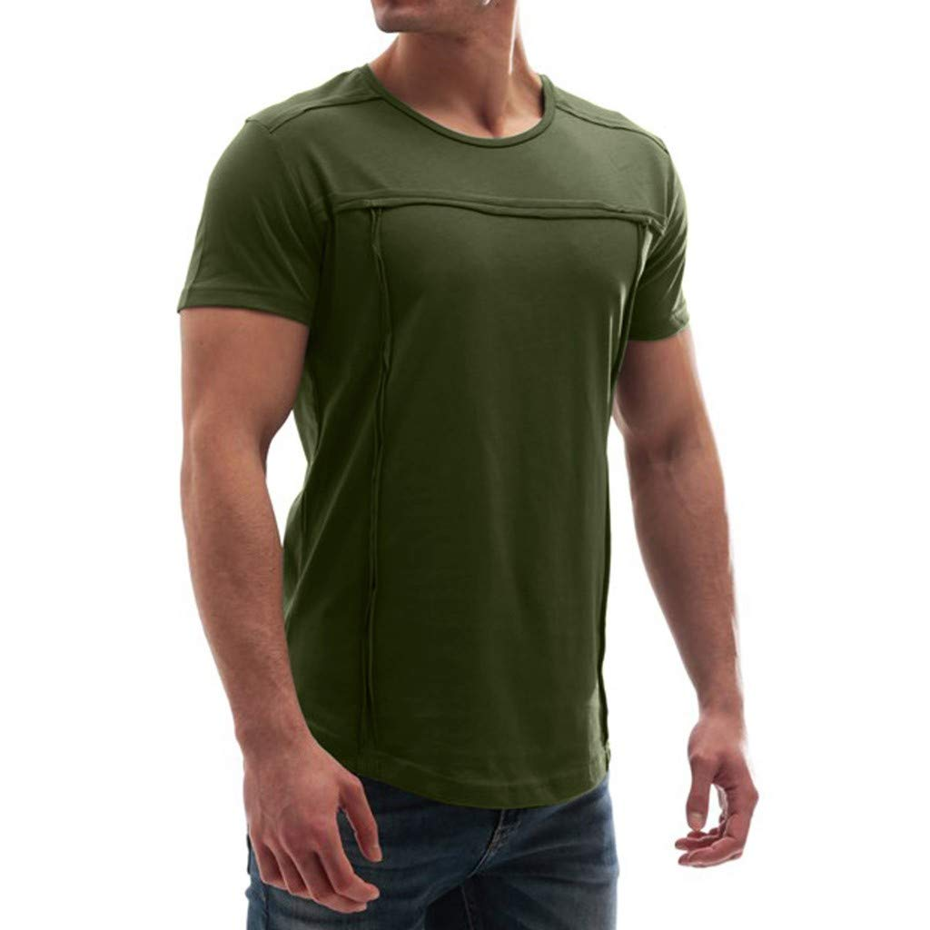 55e2268cf583 Letdown_Men tops 2019 Cotton Shirts Deals ! Fashion Men Muscle ...