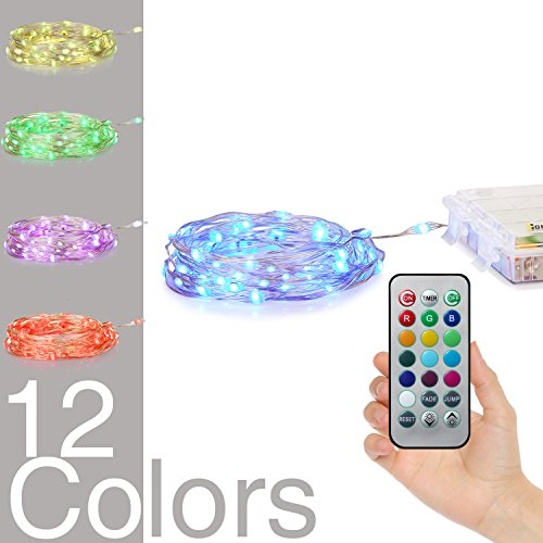 Battery Powered Multi Color Changing String Lights With Remote