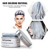 Temporary Hair Color Wax Sliver Grey Hairstyle