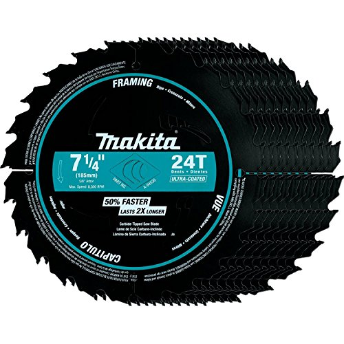 (Makita A-94530-10 7-1/4-Inch 24T Framing Blade, Black, 10-Pack)