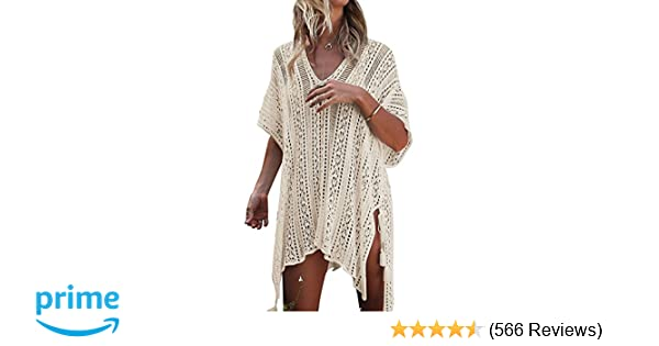 ad79f19a97a HARHAY Women s Summer Swimsuit Bikini Beach Swimwear Cover up Beige at  Amazon Women s Clothing store